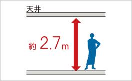 LDK天井高2.7m